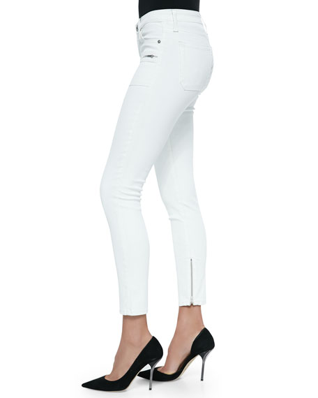 Harlow Coated Leggings W/ Zips, Snow Drift