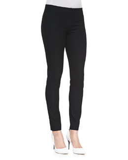 Gabardine Tapered Leggings, Black
