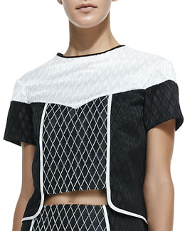 Diamond Colorblocked Crop Top