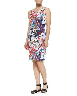 Hawaiian & Paisley-Print Tank Dress