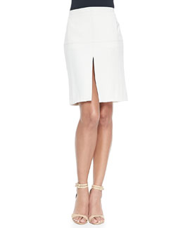Pencil Skirt W/ Center Split