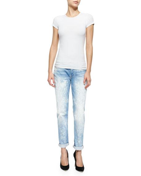 Josefina Distressed Bleached Slim Boyfriend Jeans