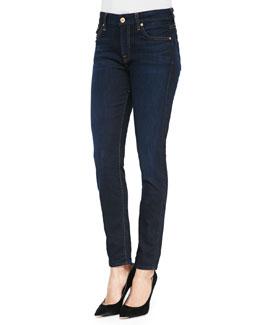 Mid-Rise Dark Skinny Jeans