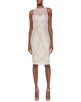 Avalon Sleeveless Embellished-Tulle Dress