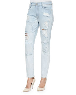 Destroyed/Patchwork Slim Jeans