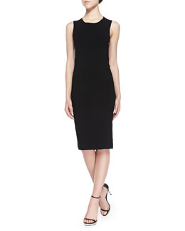Isa Matte Crepe Dress, Black