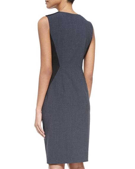 Dorothy Zip-Front Colorblock Sheath Dress