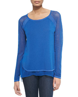 Tipper Sweater W/ Mesh Sleeves, Kismet