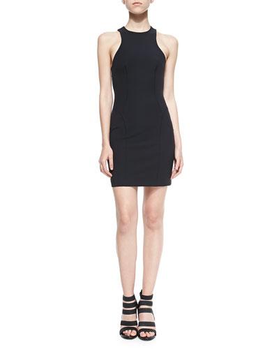 Sleeveless Stretch Tech Suiting Dress