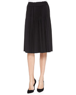 Bethany Pleated Skirt, Black