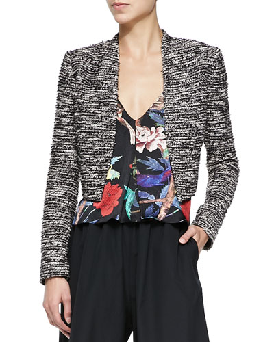 Kidman Cropped Metallic Tweed Jacket