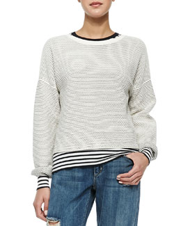 Tamrist Striped Puckered Top