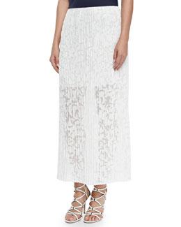 Delva Pleated Burnout Maxi Skirt