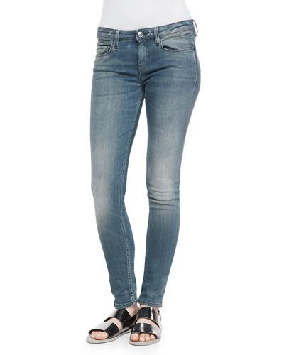 Kim Mid-Rise Faded Slim Jeans