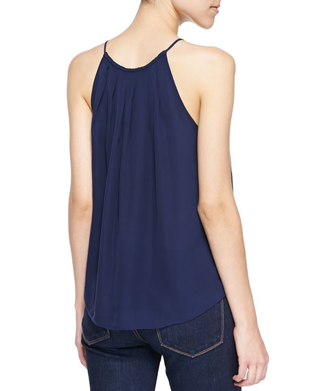 Amarey Silk Tank Top