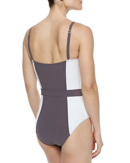 07a9d54b2c4c7 Tory Burch Lipsi Colorblock One-Piece Swimsuit