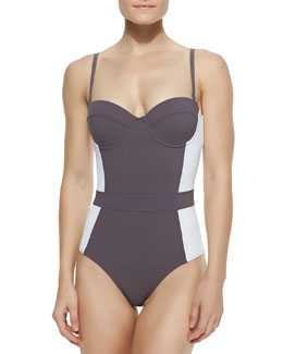 Lipsi Colorblock One-Piece Swimsuit