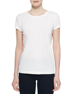 The Boyfriend Cotton-Blend Tee, True White