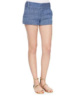 Cady Chambray Shorts