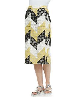 Henri Ladder-Stitched Pencil Skirt