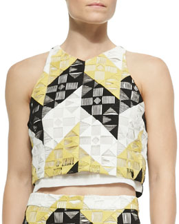 Grace Sleeveless Ladder-Stitched Top