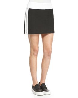 Rafter Side-Zip Miniskirt
