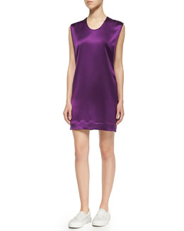 Mere Layered Satin Sleeveless Dress