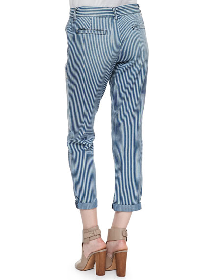 The Drawcord Pinstriped Trouser, Wherabout