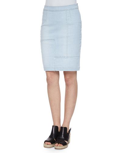 Le High-Waist Patchwork Pencil Skirt
