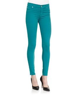 Nico Mid-Rise Skinny Jeans, Aquamarine