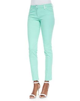 Stretch-Twill Skinny Pants