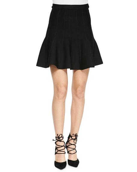 8a4080859cb9 Herve Leger Sabine Flounce Knit Mini Skirt