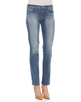 Jude Faded Distressed Slim Jeans, Mesmerize