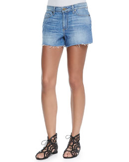Callie Distressed Denim Shorts, Tomlin
