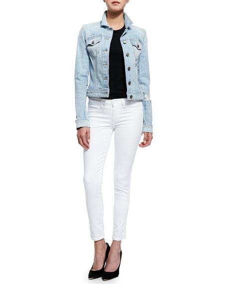 Verdugo Crop Skinny Jeans, Ultra White