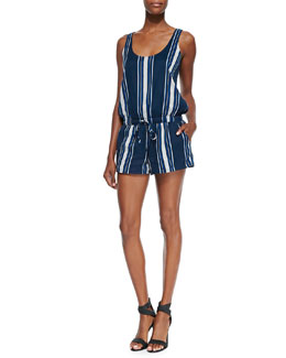 Miri Striped Sleeveless Short Romper