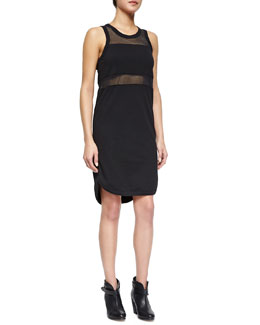 The Marlo Mesh-Inset Dress