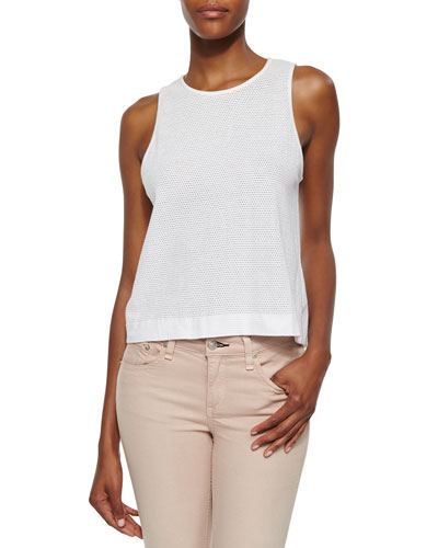 The Atlantis Perforated Tank, Bright White
