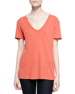 The Classic V-Neck Slub Tee