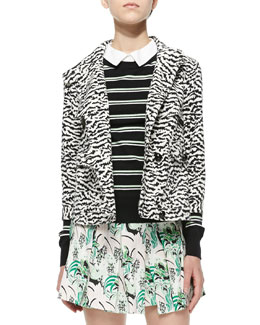Tiger-Stripe Knit Jacket