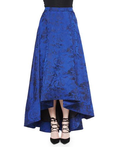 Cohe Floral Brocade Asymmetric Skirt