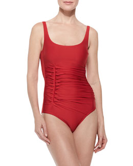 D'Antibes Gathered Scoop One-Piece