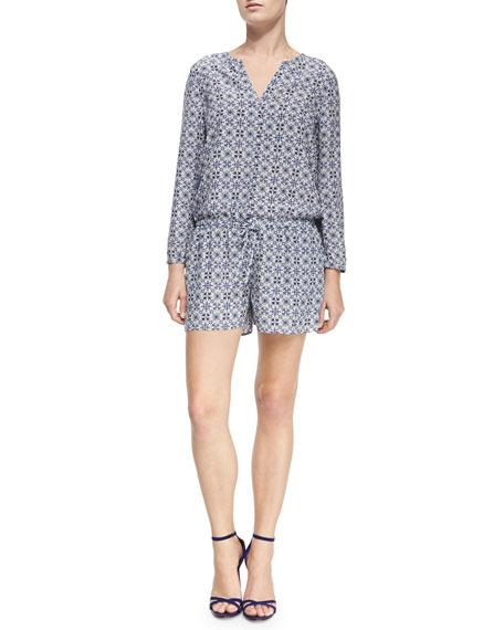 d8fdc6d80fd Joie Rialto Printed Long-Sleeve Jumpsuit