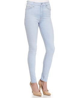 The High Waisted Skinny-Fit Denim Jeans