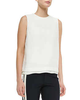 Sleeveless Jacquard Shell