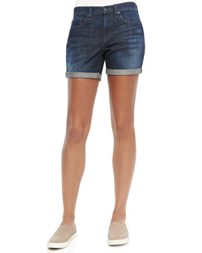 Mason Faded Cuffed Denim Shorts
