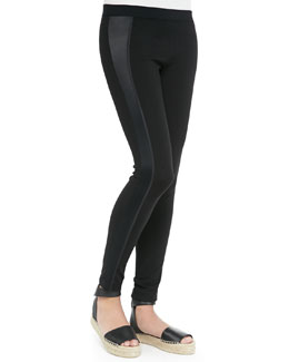 Satin-Side Stretch Leggings