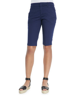 Bermuda Side-Buckle Shorts