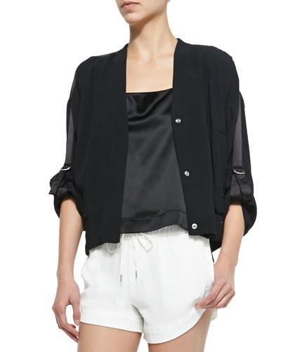 Blaze Knit Snap-Front Jacket