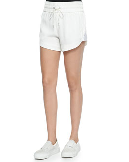 Blaze Drawstring Shorts with Shirred Waistband